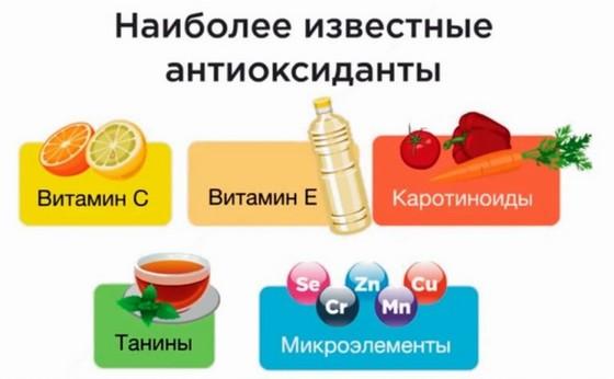 Vidy antioksidantov